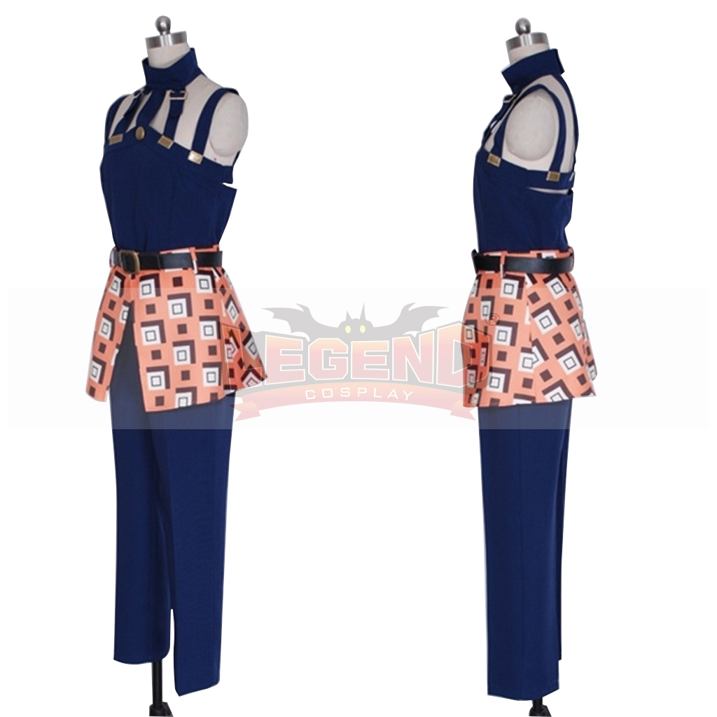 Anime Jojo/'s Bizarre Adventure Golden Wind Narancia Ghirga Skirt Cosplay Costume
